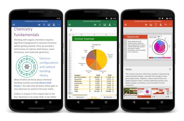 微软面向安卓手机发布Office办公软件