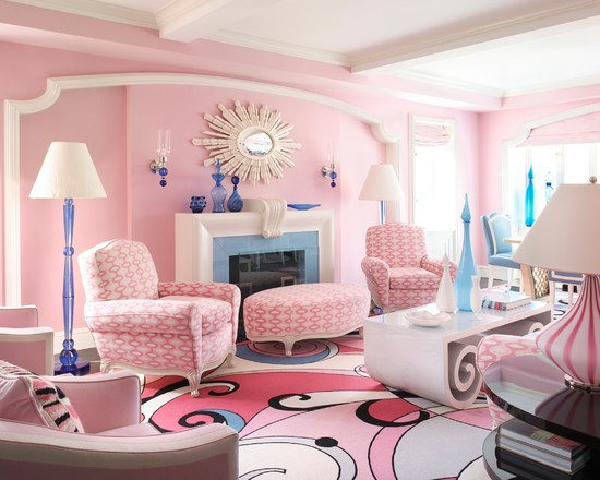 少女心缔造蜜意空间 9款粉色系客厅