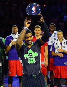 欧文31+5+14生涯首次当选全明星赛MVP