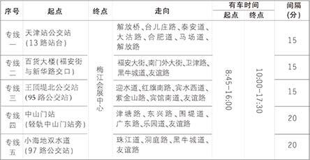旅博会18日开幕 5条免费公交通往梅江会展中心