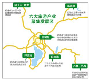 昆明将打造6大旅游产业聚集发展区 2020年初步建成区域性国际旅游集散地