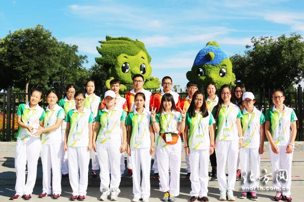 青年志愿者成为武清绿博会的靓丽风景线